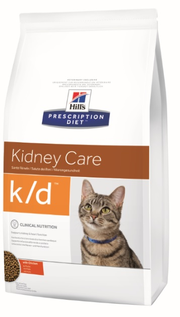 Корм Хиллс Prescription Diet k/d Feline Original сухой для кошек, При заболеваниях почек и сердца, профилактика МКБ, 3 весовки, Hills