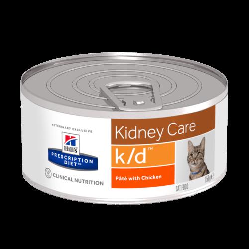 Консервы Хиллс Prescription Diet k/d Kidney Care для кошек при заболеваниях почек, МКБ, 156 г, Hills