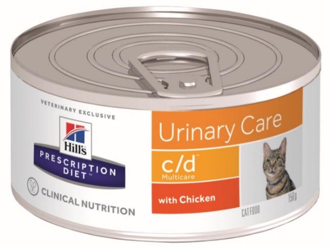 Консервы Хиллс Prescription Diet c/d Feline для кошек при заболеваниях мочевыводящей системы, 156 г, Hills