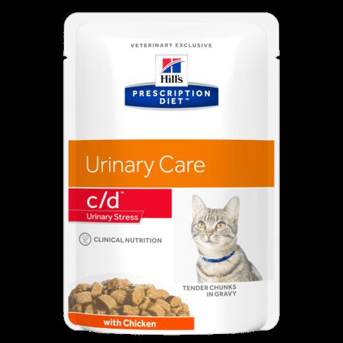 Паучи Хиллс Prescription Diet с/d Urinary Stress для кошек при стрессе, 12*85 г, Курица, Hills