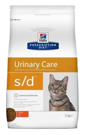 Корм Хиллс Prescription Diet s/d Urinary Care сухой для кошек при струвитах, в ассортименте, Hills