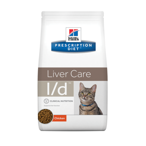 Корм Хиллс Prescription Diet l/d Feline сухой для кошек с заболеваниями печени, 1,5 кг, Hills