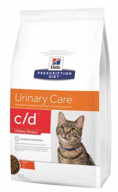 Корм Хиллс Prescription Diet c/d Urinary Stress диета для кошек при заболеваниях нижних отделов мочевыводящих путей, в ассортименте, Hills