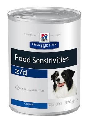 Консервы Хиллс Prescription Diet z/d Food Sensitivities для собак с острыми пищевыми аллергиями, 370 г, Hills