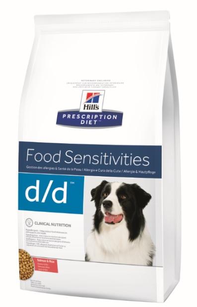 Корм Хиллс Prescription Diet d/d сухой для собак Salmon/Rice, лечение пищевых аллергий Лосось/Рис, в ассортименте, Hills