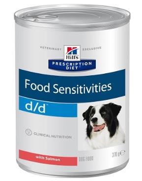 Консервы Хиллс Prescription Diet d/d Salmon для собак при пищевых аллергиях, Лосось, 370 г, Hills