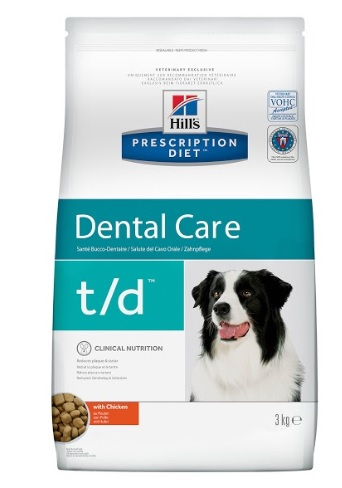 Корм Хиллс Prescription Diet t/d сухой Dental Care для собак при заболеваниях полости рта, 3 кг, Hills