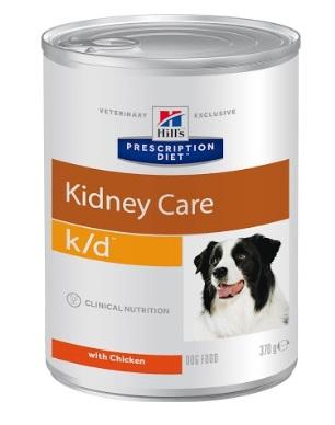 Консервы Хиллс Prescription Diet k/d Kidney Care для собак с заболеваниями почек, МКБ (оксалаты, ураты), 370 г, Hills