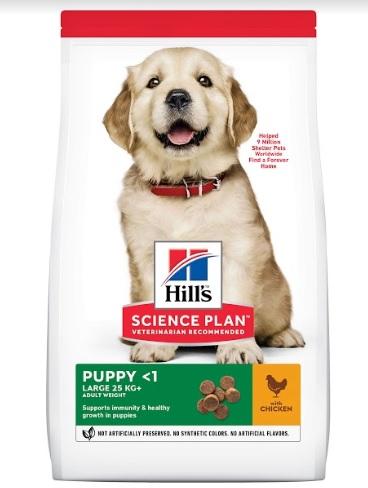 Корм Хиллс Science Plan Puppy Healthy Development Large Breed Chicken сухой для щенков крупных пород, Курица, в ассортименте, Hills
