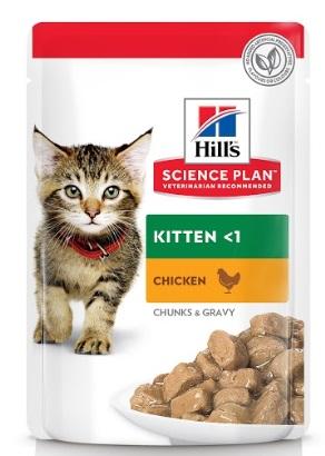 Паучи Хиллс Science Plan для котят, кусочки в соусе, в ассортименте, 12*85 г, Hills