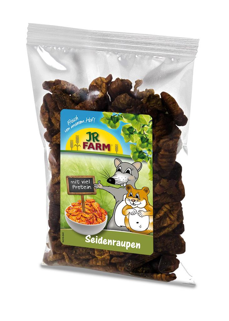 JR Farm Лакомство Тутовый шелкопряд, для хомяков, крыс, мышей, 40 г