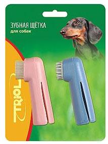 Триол Зубная щетка-напальчник Чистка/Массаж, 2 шт./уп., Triol
