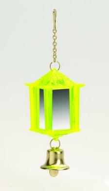 """Игрушка для птиц """"Фонарик зеркальный с колокольчиком"""", 10*3,5 см, пластик, I .P.T.S."""