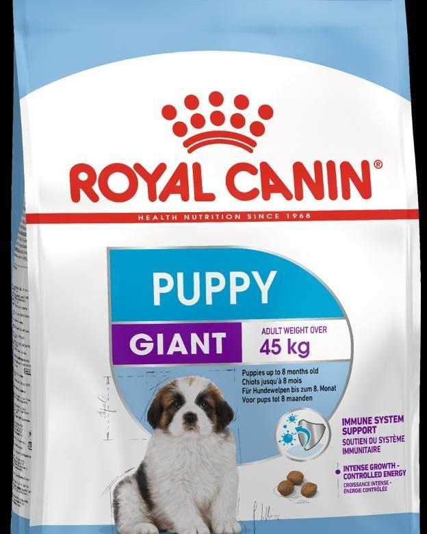 Корм Роял Канин GIANT Puppy для щенков собак гигантских пород с 2 до 8 месяцев, в ассортименте, Royal Canin
