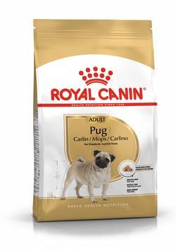 Корм Роял Канин сухой для взрослых собак породы Мопс в возрасте от 10 месяцев Pug Adult, в ассортименте, Royal Canin