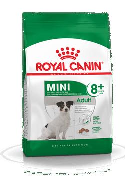 Корм Роял Канин MINI Adult 8+ сухой для пожилых собак мелких пород в возрасте от 8 до 12 лет, в ассортименте, Royal Canin