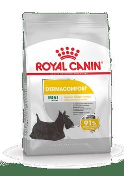 Корм Роял Канин MINI Dermacomfort сухой для собак мелких пород старше 10 месяцев с раздраженной и зудящей кожей, в ассортименте, Royal Canin