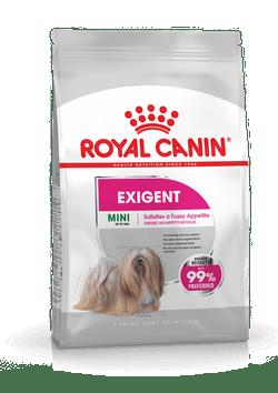 Корм Роял Канин MINI Exigent сухой для собак мелких пород старше 10 месяцев привередливых в питании, Мини Экзиджент, в ассортименте, Royal Canin