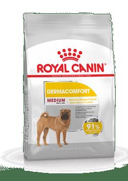 Корм Роял Канин MEDIUM Dermacomfort сухой для взрослых собак средних пород старше 12 месяцев с  раздраженной и зудящей кожей, повышенной чувствительностью кожи, в ассортименте, Royal Canin