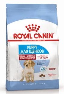 Корм Роял Канин MEDIUM Puppy для щенков средних пород с 2 до 12 месяцев, в ассортименте, Royal Canin