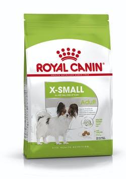 Корм Роял Канин X-SMALL Adult сухой для взрослых собак миниатюрных пород (вес взрослой собаки до 4 кг), в возрасте от 10 месяцев до 8 лет, в ассортименте, Royal Canin