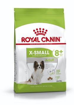 Корм Роял Канин X-SMALL Adult 8+ сухой для пожилых собак миниатюрных пород (вес взрослой собаки до 4 кг), в возрасте от 8 до 12 лет, 500 г, Royal Canin