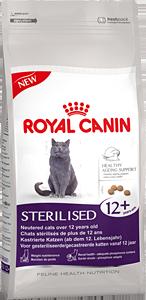 Корм Роял Канин сухой для стерилизованных кошек старше 12 лет Sterilised 12+, в ассортименте, Royal Canin