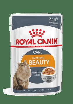 Влажный корм (паучи) Роял Канин для поддержания красоты шерсти кошек Intense Beauty, 24*85 г, в ассортименте, Royal Canin