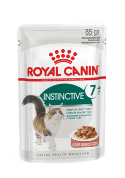 Влажный корм (паучи) Роял Канин для кошек старше 7 лет Instinctive 7+, мелкие кусочки в соусе, 12*85 г, Royal Canin