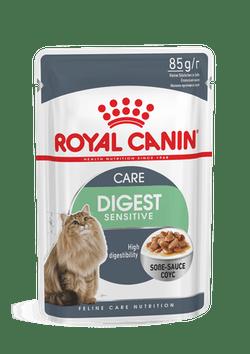 Влажный корм (паучи) Роял Канин для кошек с чувствительным пищеварением Digest Sensitive, кусочки в соусе, 24*85 г, Royal Canin