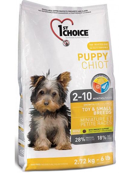 Корм Фест Чойс для щенков миниатюрных и мелких пород Puppy Toy/Small Breeds, Курица, в ассортименте, 1st Choice