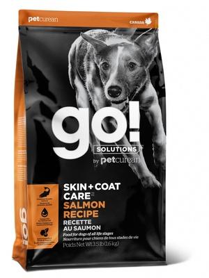 Корм Гоу сухой цельнозерновой для щенков и собак с чувствительным пищеварением, Лосось/Овсянка, Sensitivity + Shine Salmon Dog Recipe, в ассортименте, Go!