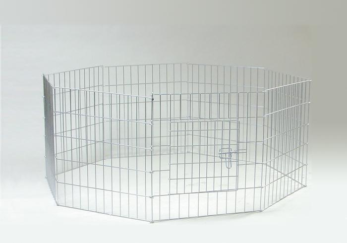 Вольер для животных стальной 8-секционный с дверью, 2 размера, I.P.T.S.