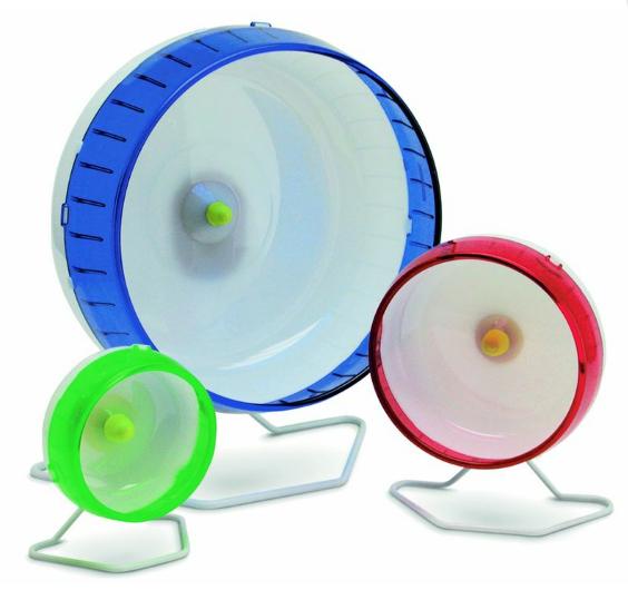 Бесшумное пластиковое беговое колесо для грызунов, в ассортименте, I.P.T.S.