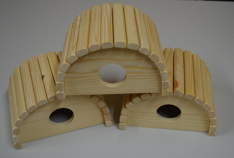 Домик с крышей из деревянных палочек, 16*12*10 см, дерево, Россия