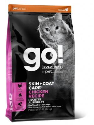 ГОУ Корм сухой беззерновой для котят и кошек, Курица/Фрукты/Овощи, Solutions Chicken Recipe, в ассортименте, Go!