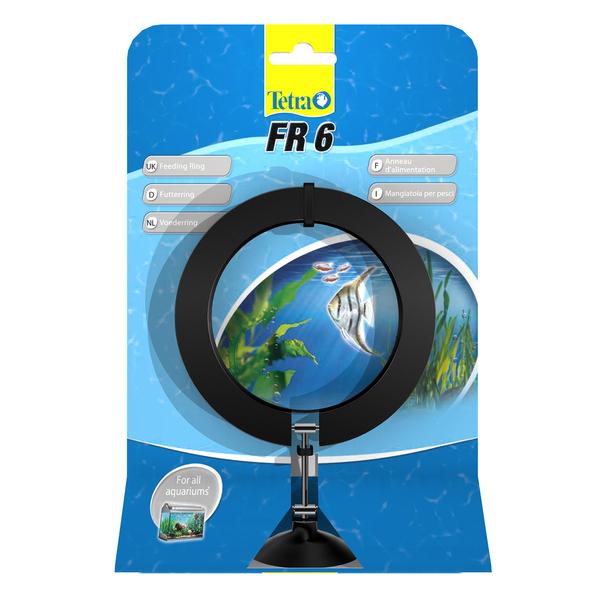 Тетра Кормушка-кольцо на присоске FR 6 Feeding Ring, с изменением положения при разном уровне воды, диаметр 8, 2 см, Tetra