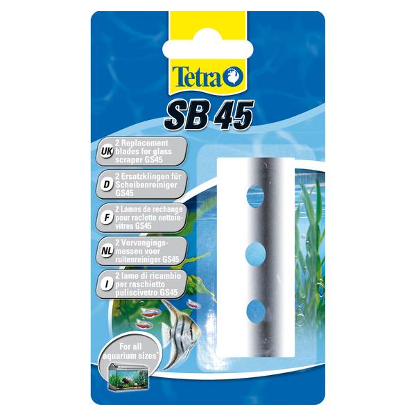 Тетра Сменное лезвие Tetratec SB45 (для скребка Tetratec GS45), 2 шт./уп.,  Tetra