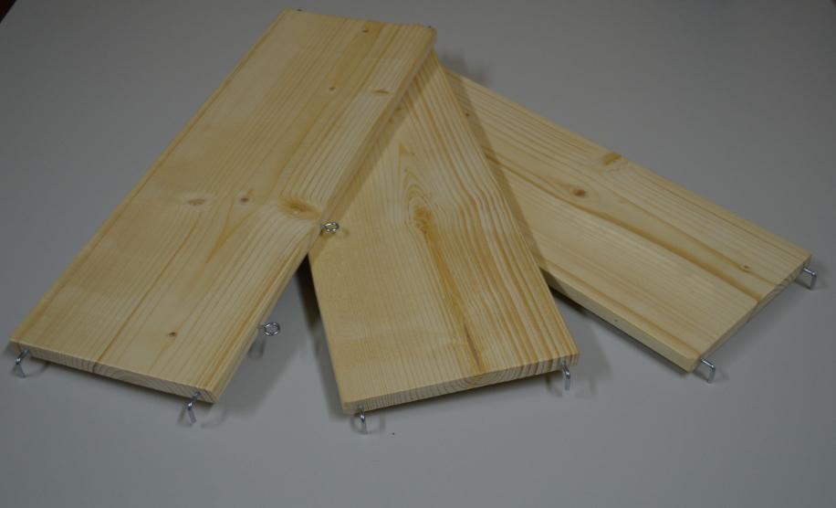 Комплект деревянных полок и лесенок к клеткам С2-1, С2-2, D800, ТРИ ПОЛКИ И ТРИ ЛЕСЕНКИ, Россия
