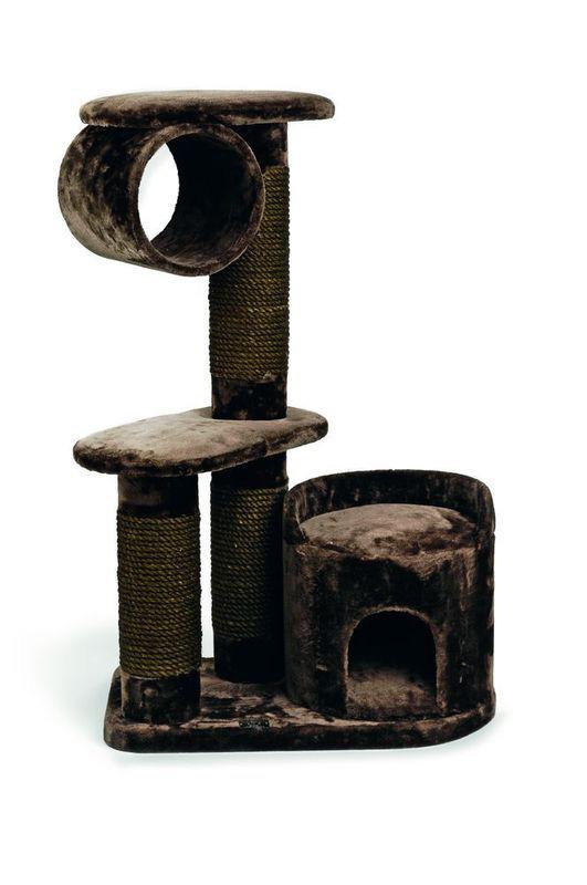 Игровой комплекс для кошек Могущественный Кот, 75*45*118 см, коричневый, I.P.T.S.