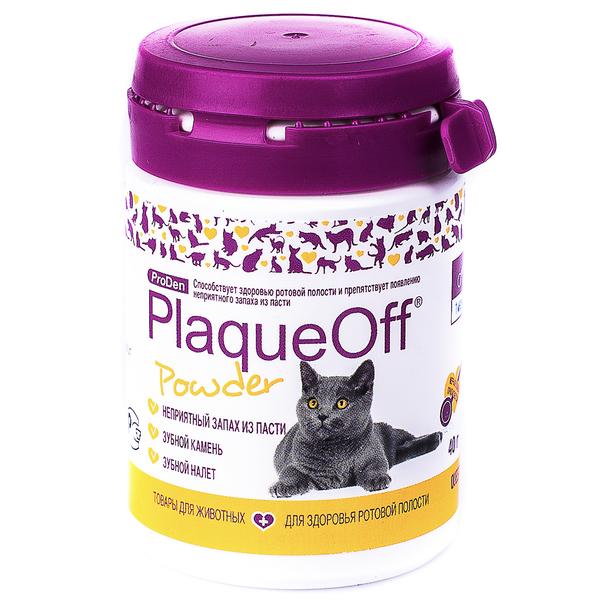 ProDen PlaqueOff Средство для профилактики и удаления зубного камня у кошек, 40 г