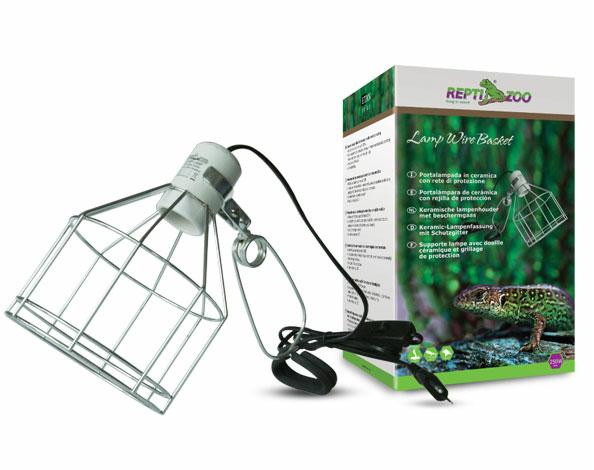 РептиЗоо Светильник (металлическая cетка) на зажиме RL08 для ламп, цоколь E27, ReptiZoo