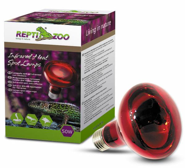 РептиЗоо Лампа инфракрасная Repti Infrared Heat, в ассортименте, ReptiZoo