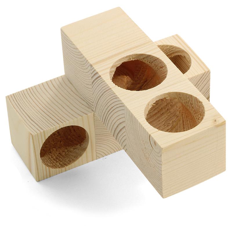 Гамма Игрушка-дом-лабиринт деревянный для грызунов, 13*13*8 см, Россия