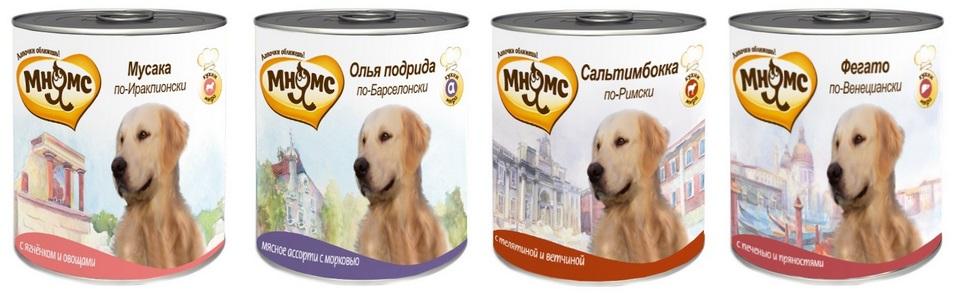МНЯМС Консервы для собак средних и крупных пород, 600 г, в ассортименте