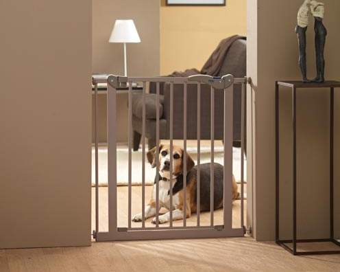 Савик Перегородка с калиткой Dog Barrier, ширина 75-84 см, высота 75 см, бежево-серая, Savic