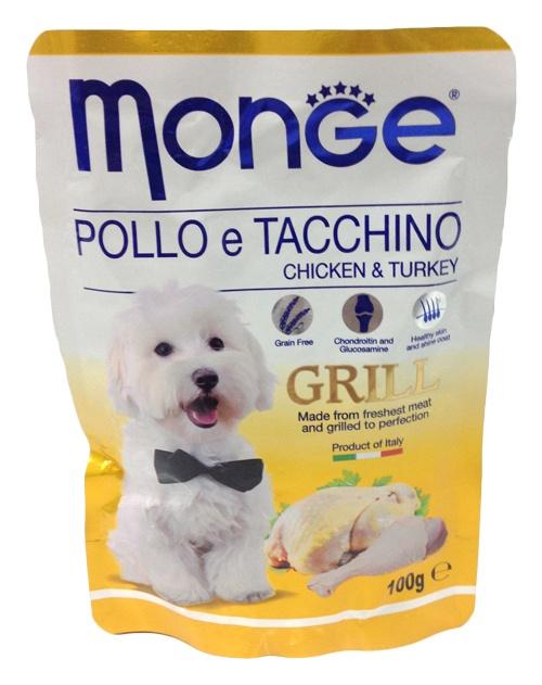 Монже Паучи Дог Гриль для собак, 100 г, в ассортименте, Monge