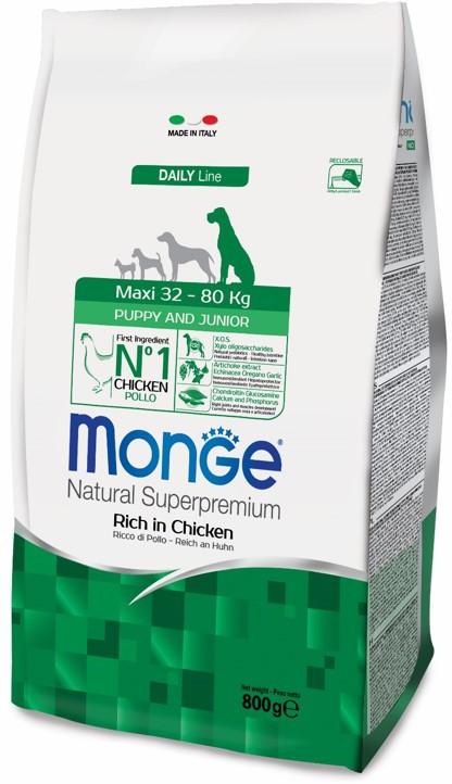 Монже Корм сухой для щенков крупных и гигантских пород Dog Maxi, в ассортименте, Monge