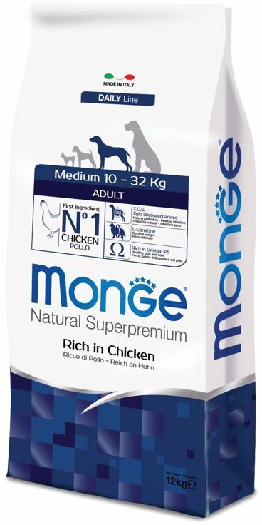 Монже Корм сухой для взрослых собак средних пород Dog Medium, в ассортименте, Monge