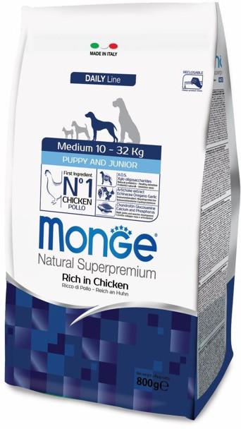 Монже Корм сухой для щенков средних пород Dog Medium, в ассортименте, Monge
